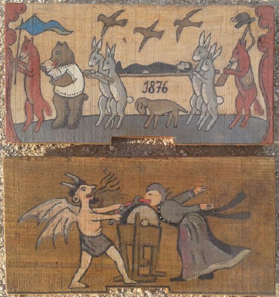 Apicultura europea: paneles pintados eslovenos