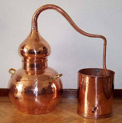 Educación ambiental : taller destilación aromáticas