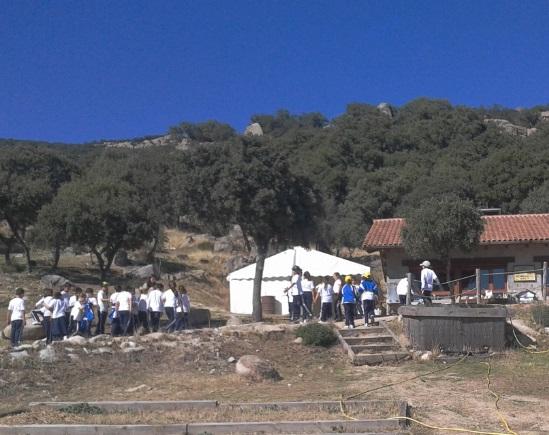 Educación ambiental - visita apícola