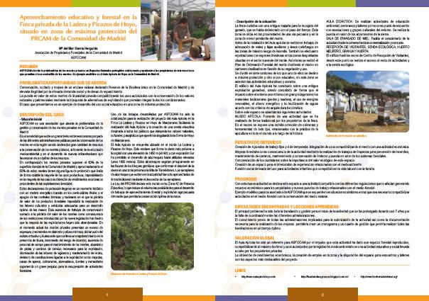 Aprovechamiento educativo en La Ladera