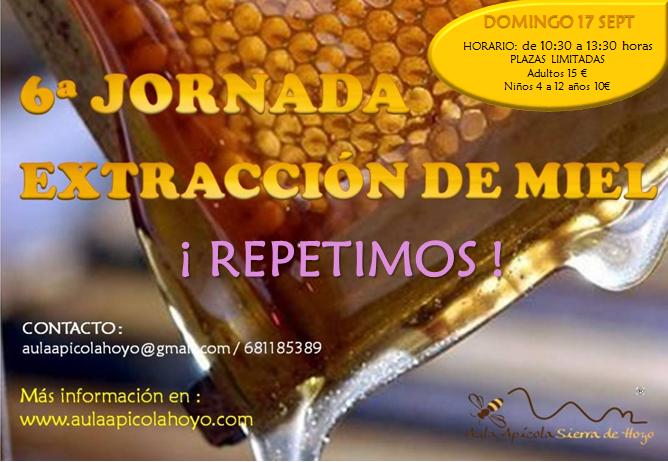 Jornada de extracción de miel